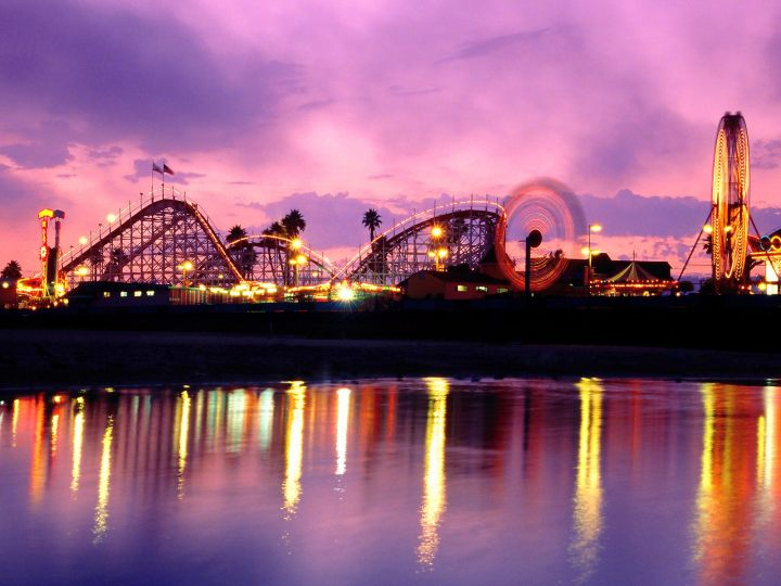Summer-Twilight-Santa-Cruz-Beach-Boardwalk-California